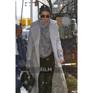 Street Fashion Kendall Jenner Grey Coat
