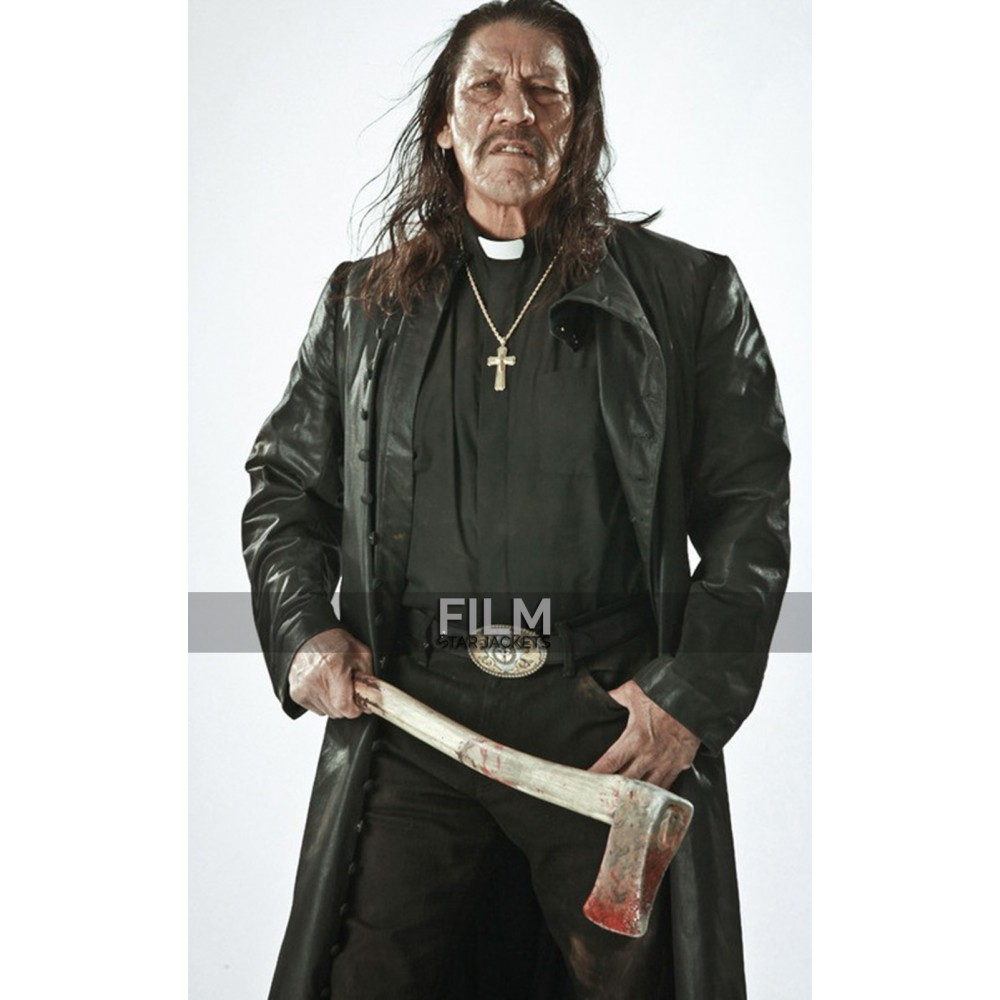 Danny Trejo Zombie Hunter Long Black Coat