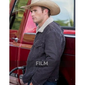 Luke Collins Longest Ride Scott Eastwood Fur Collar Jacket
