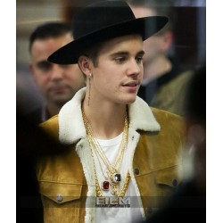 Saint Laurent Justin Bieber Shearling Jacket