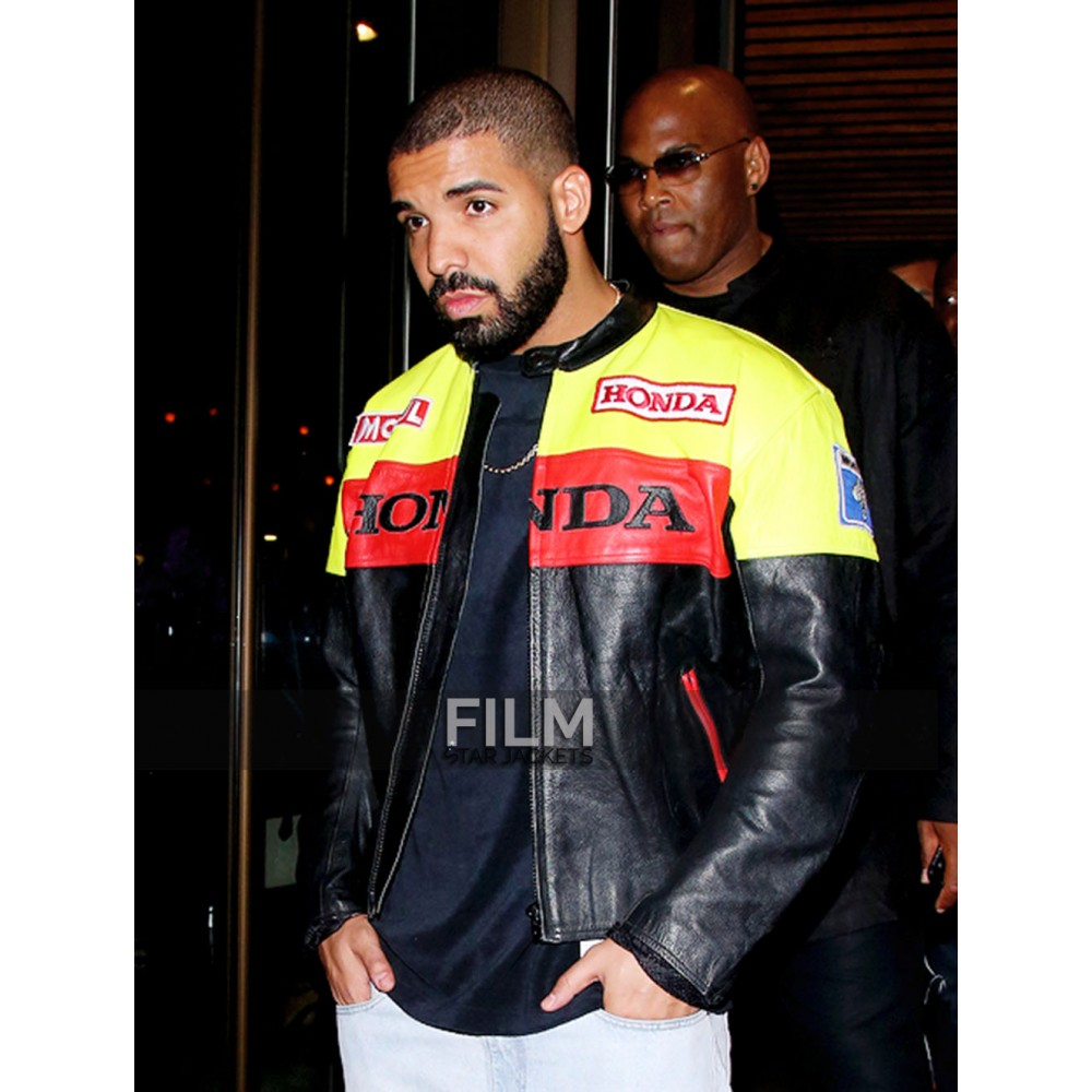 Drake Graham Honda Motorcycle Leather Jacket