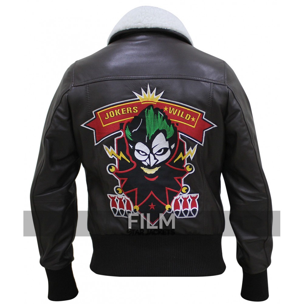 Harley Quinn Bombshell With Patch Leather Jacket