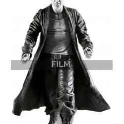 Marv Sin City Mickey Rourke Black Leather Trench Coat