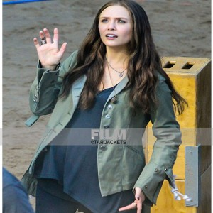 CAPTAIN AMERICA CIVIL WAR SCARLET WITCH (ELIZABETH OLSEN ) JACKET