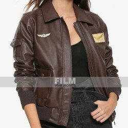 CAPTAIN MARVEL (BRIE LARSON) AVIATOR FLIGHT JACKET