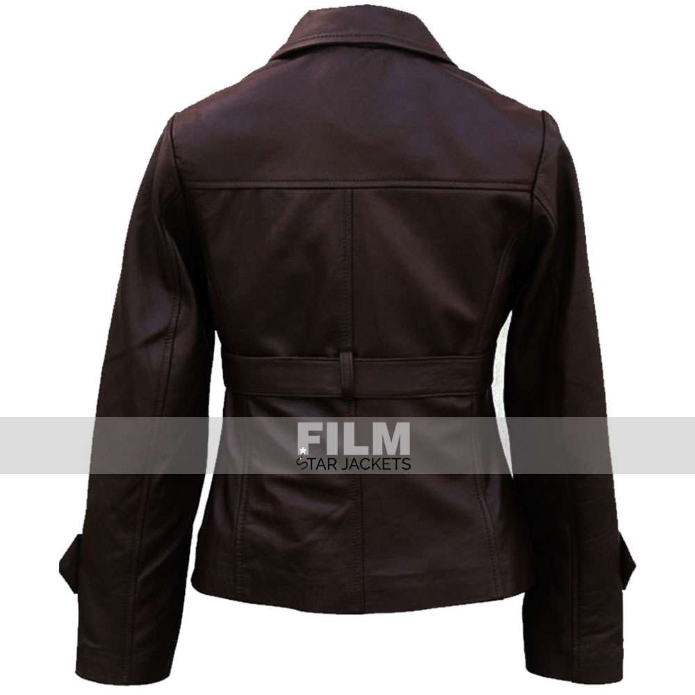 CAPTAIN AMERICA PEGGY CARTER BROWN LEATHER JACKET
