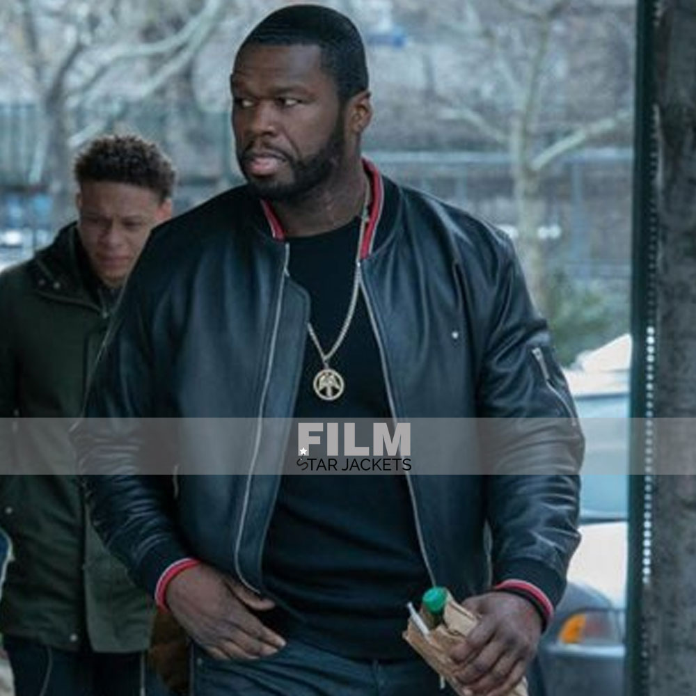 POWER 50 CENT (KANAN) BLACK LEATHER JACKET