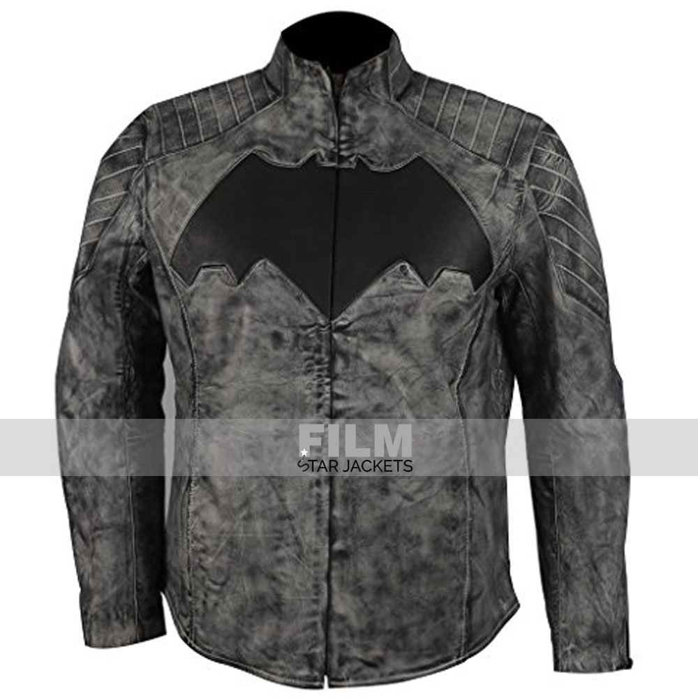 BATMAN DAWN OF JUSTICE WAX LEATHER JACKET