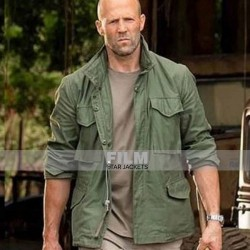 HOBBS AND SHAW JASON STATHAM (DECKARD SHAW) GREEN JACKET