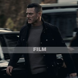 MURDER MYSTERY LUKE EVANS BLACK COTTON JACKET