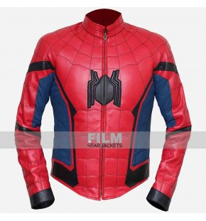 SPIDER-MAN HOMECOMING TOM HOLLAND LEATHER COSTUME JACKET