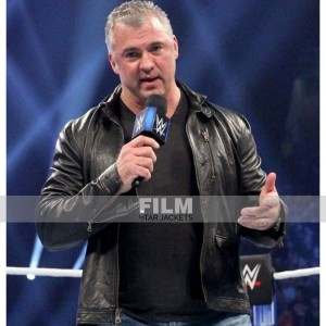 SHANE MCMAHON WWE BLACK LEATHER JACKET