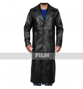 WWE THE DEAD-MAN UNDERTAKER BLACK LEATHER COAT