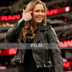 RONDA ROUSEY WWE LEATHER JACKET