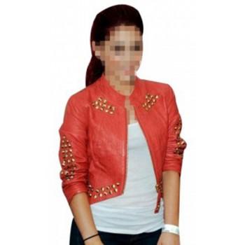 Ariana Grande Red Studded Jacket