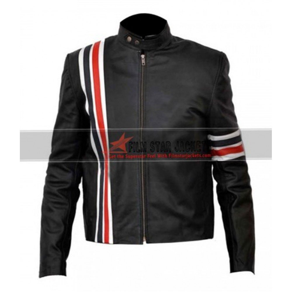 Easy Rider Striped Peter Fonda Motorcycle Jacket
