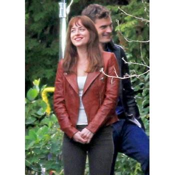 Fifty Shades of Grey Dakota Johnson Red Jacket