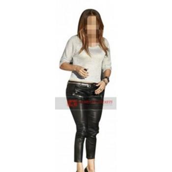 Jennifer Lopez Tight Leather Pants