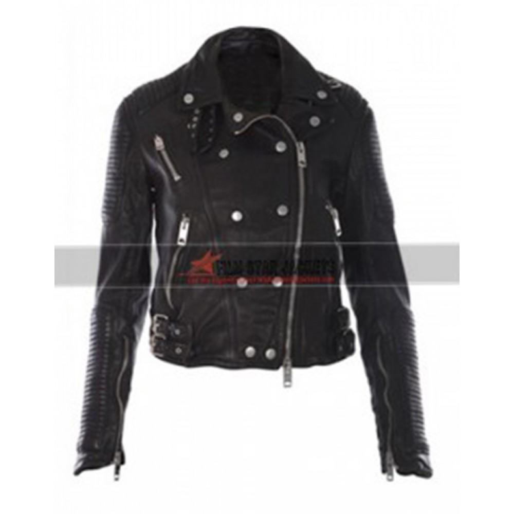 Keira Knightley Black Biker Jacket
