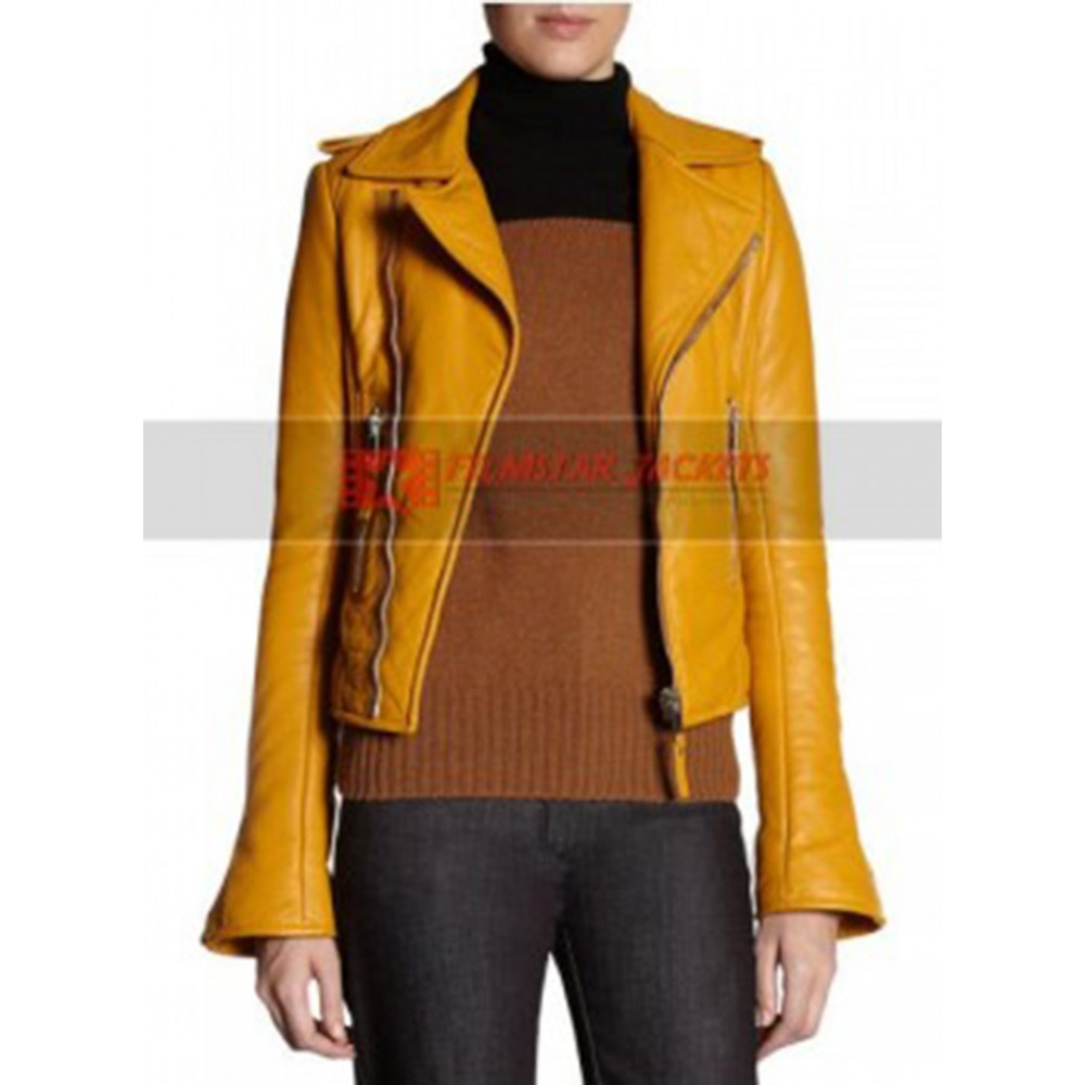 Nicole Richie Balenciaga Yellow Jacket