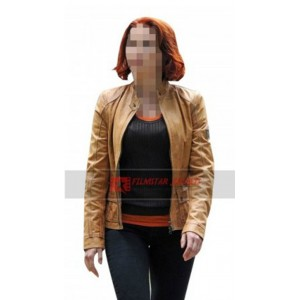 Scarlett Johansson Tan Jacket
