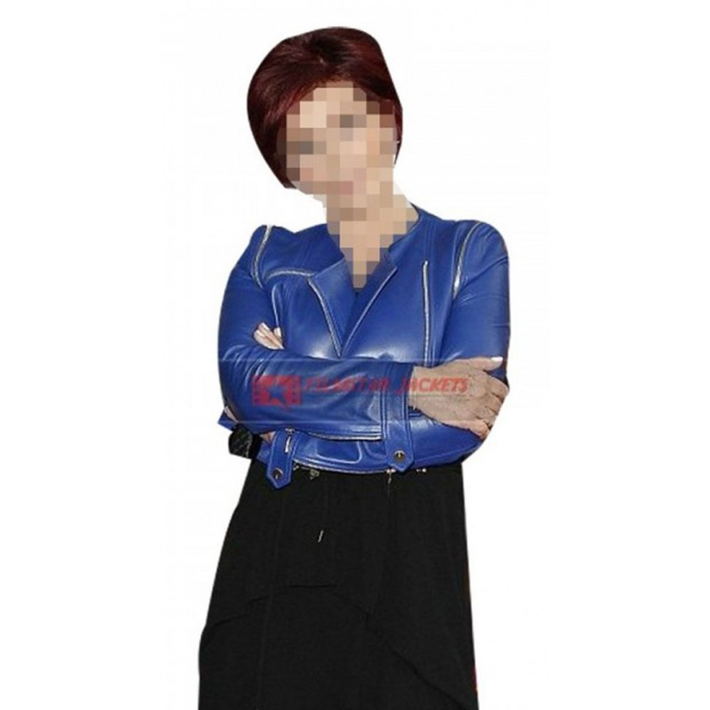 Sharon Osbourne X Factor Blue Jacket