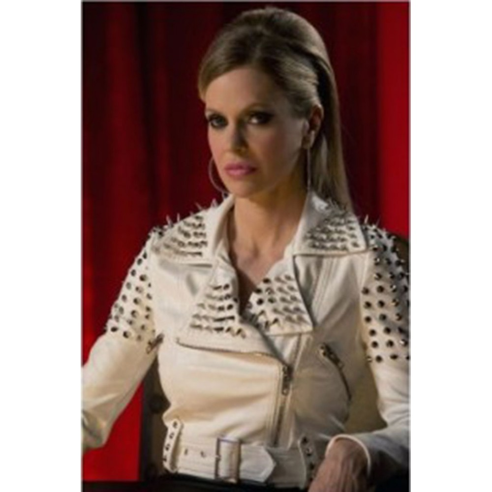 True Blood Pam White Spiked Jacket