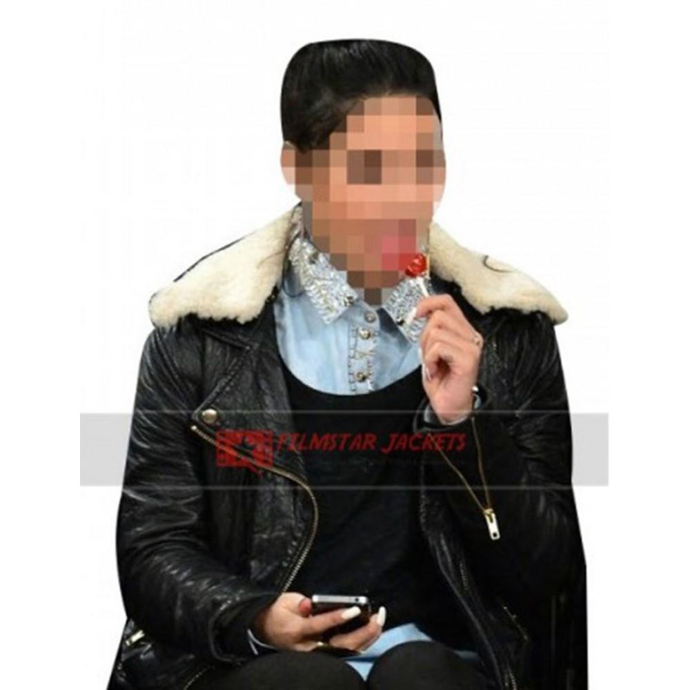 Vanessa Hudgens Jacket With Fur Collar