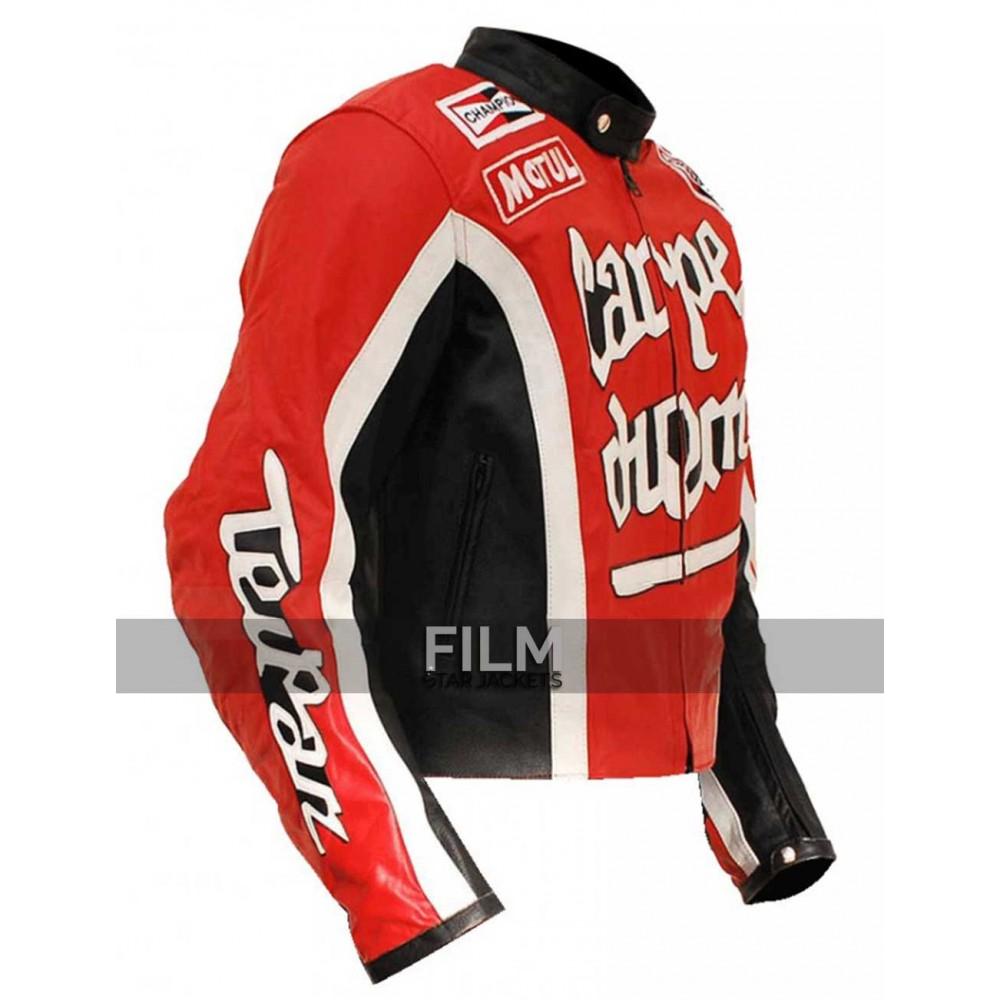 Torque Carpe Diem Cary Ford Red Motorcycle Jacket
