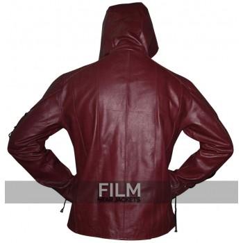 Arrow Season 3 Roy Harper Maroon Hooded Costume Jacket