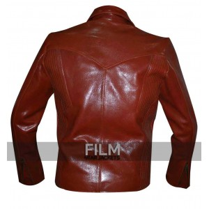 Daredevil Red Leather Costume Suit Jacket