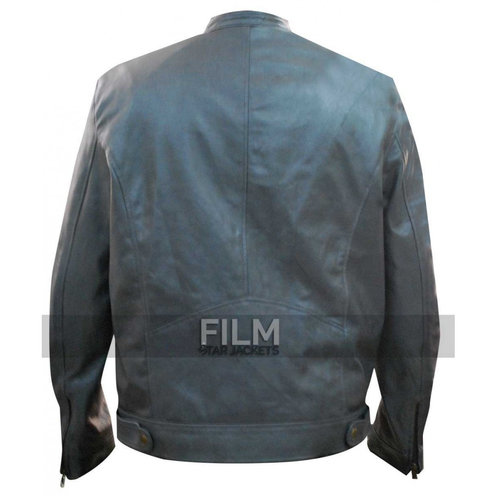 Dean Ambrose WWE Men's Grey Leather Jacket