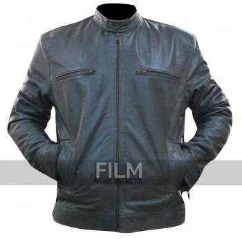Dean Ambrose WWE Men's Grey Leather Jacket