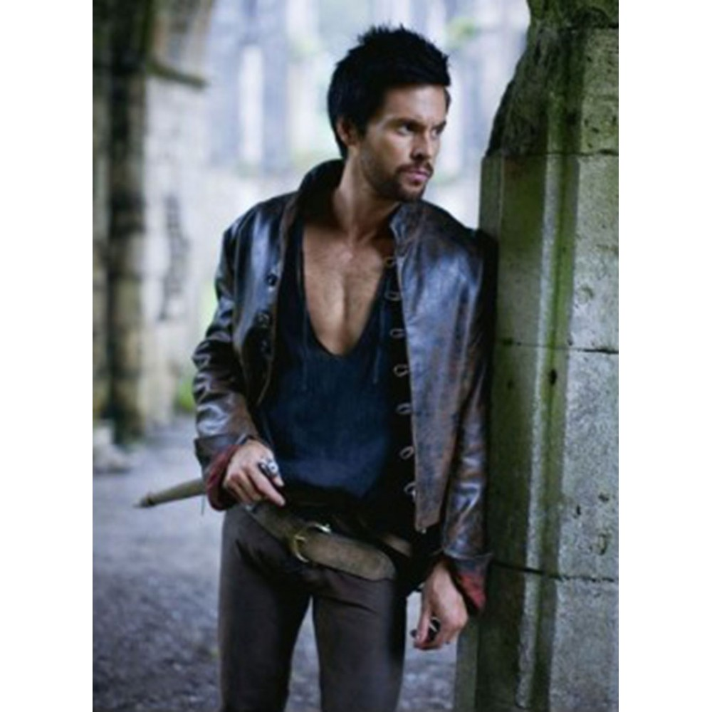 Leonardo Da Vinci's Demons Tom Riley Distressed Jacket