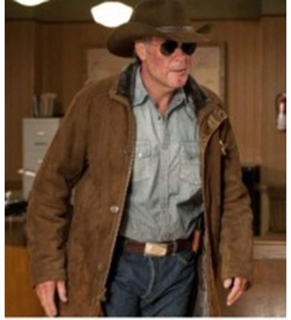 d4d82192b Longmire Sheriff Walt (Robert Taylor) Trench Leather Jacket