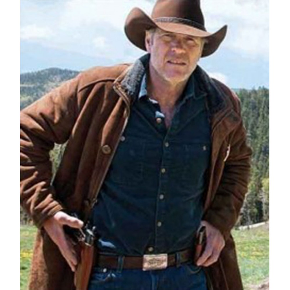 Longmire Sheriff Walt (Robert Taylor) Trench Leather Jacket