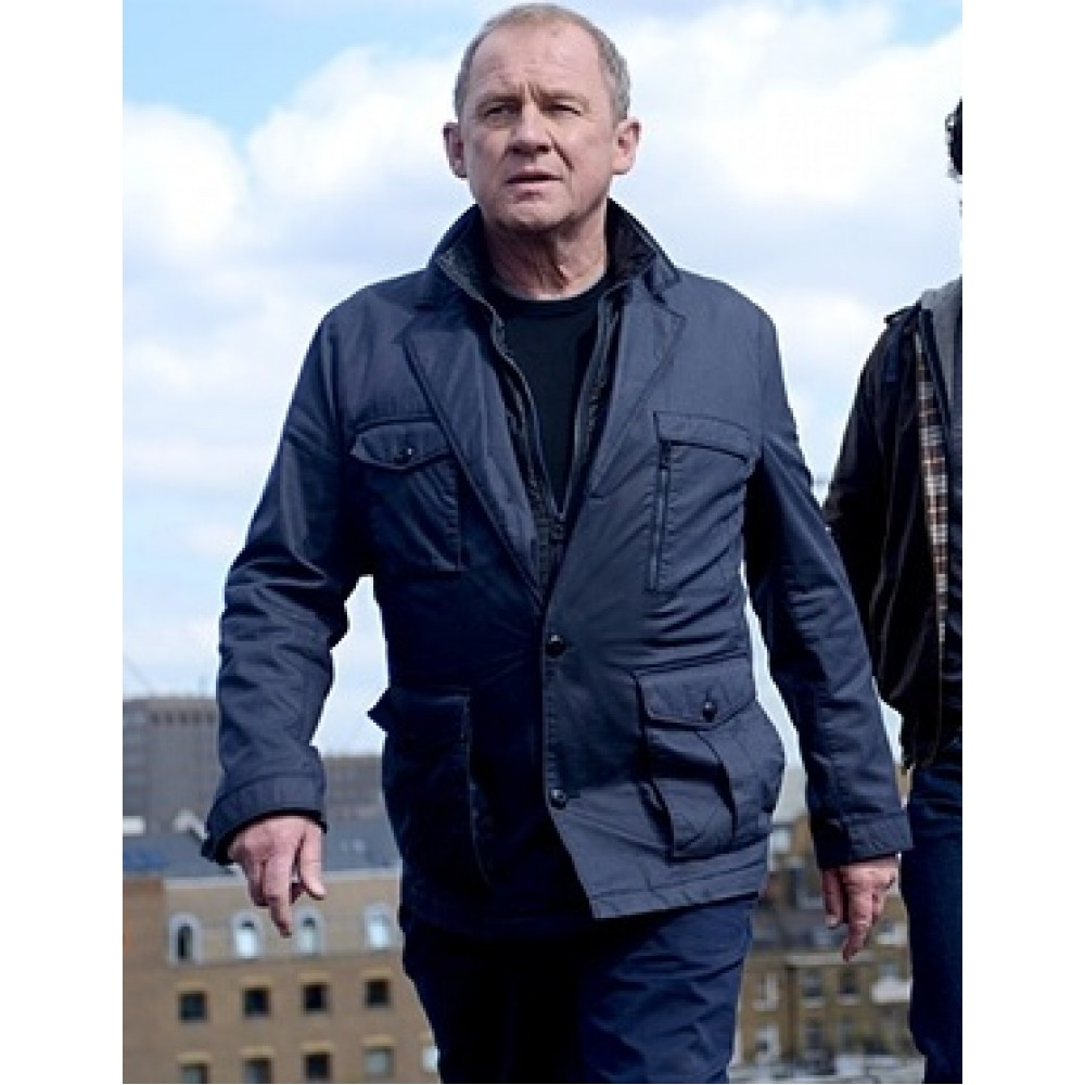 Spooks 2015 Harry Pearce (Peter Firth) Blue Jacket