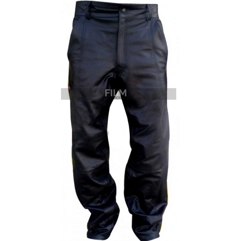 Hancock Will Smith Black Leather Pant Costume