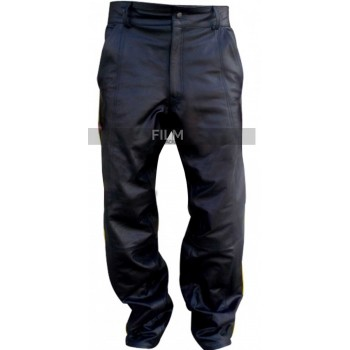 Hancock Will Smith Black Leather Pant Costume