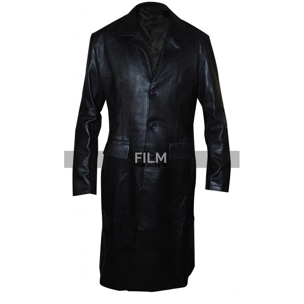 Angel David Boreanaz Trench Black Costume Jacket
