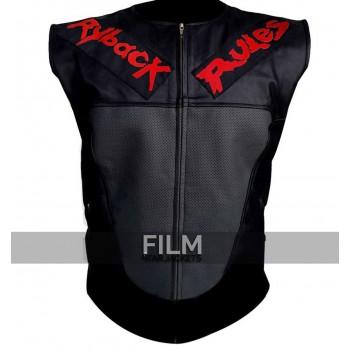 WWE Ryback Rules Black Leather Vest