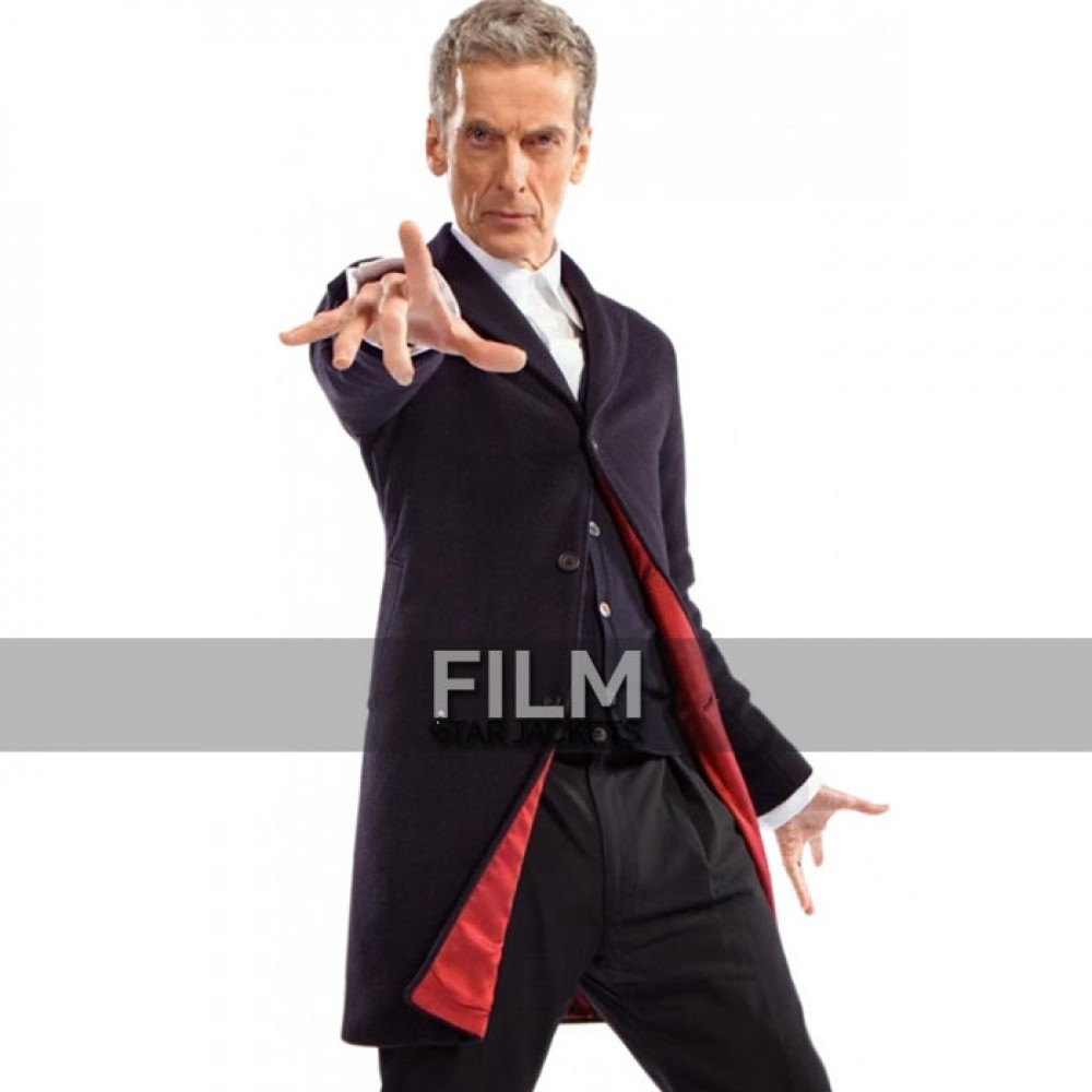 12th DOCTOR WHO BLUE CROMBIE PETER CAPALDI COAT