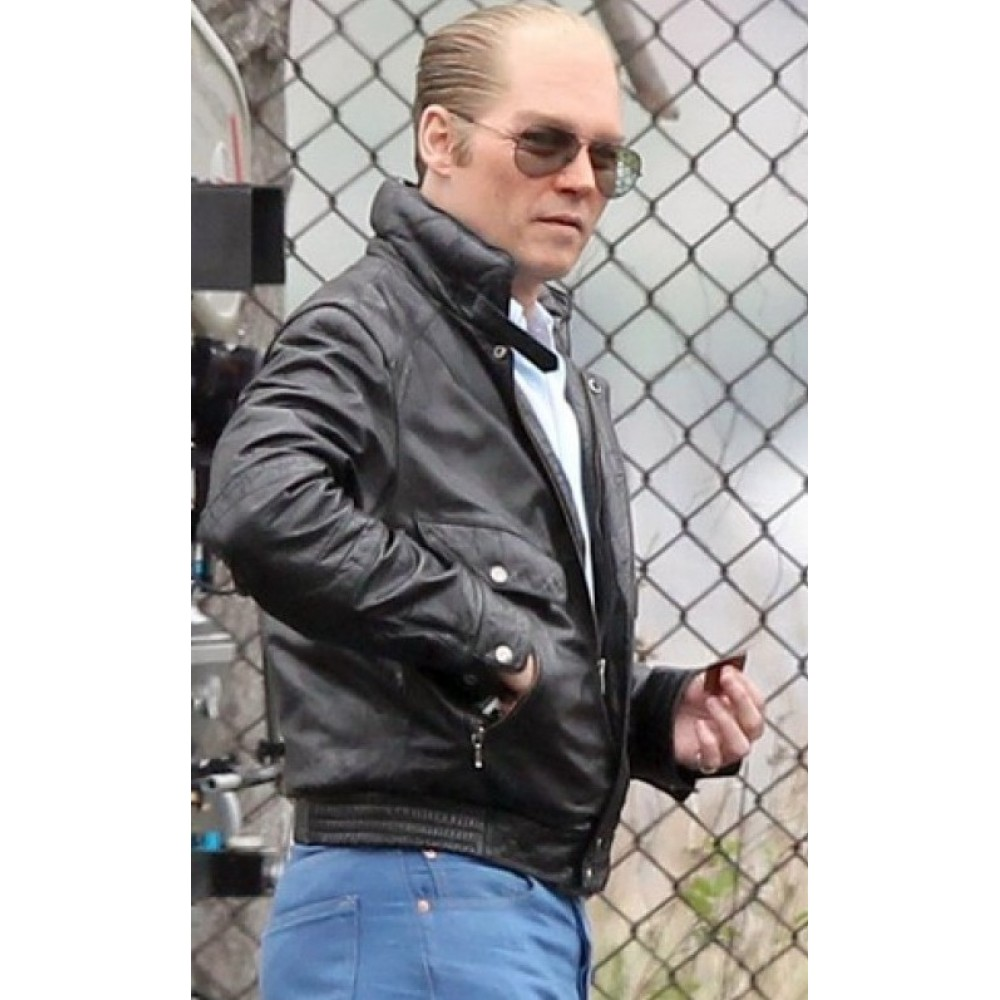 Black Mass Johnny Depp Black Leather Jacket
