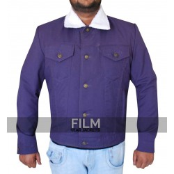 Designers Purple Cotton Jacket For Men