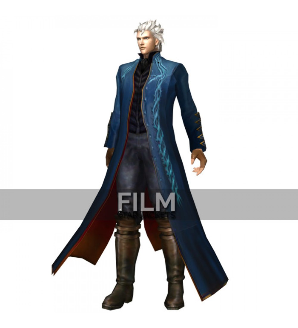 Devil may cry 3 vergil blue leather coat voltagebd Images