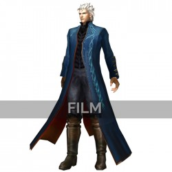 Devil May Cry 3 Vergil Blue Leather Coat