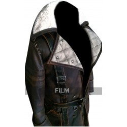 Fallout 4 Brotherhood of Steel Arthur Maxson Fur Collar Leather Coat