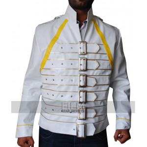 Freddie Mercury White Replica Leather Jacket