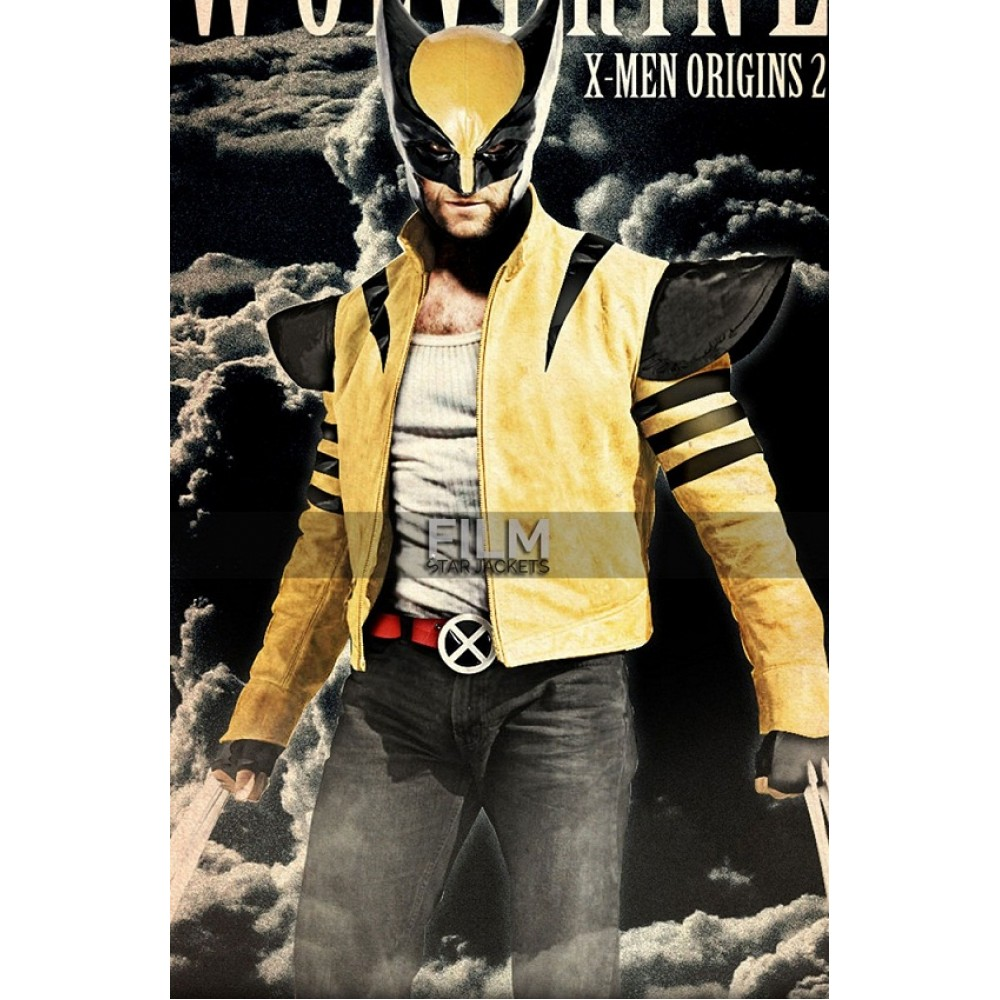 Hugh Jackman X-Men Origins 2 Wolverine Yellow Jacket