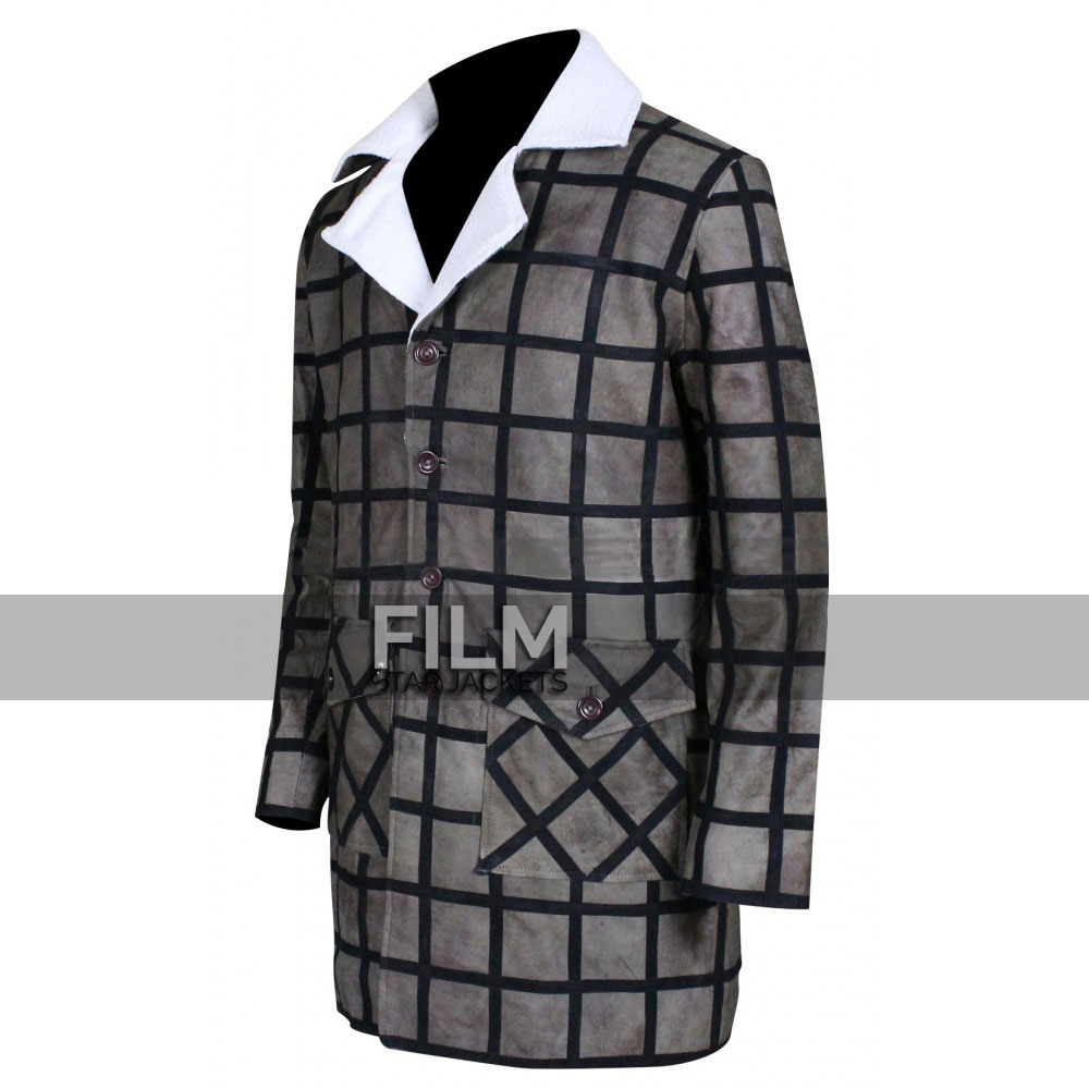 Django Unchained Movie Jamie Foxx Fur Leather Coat